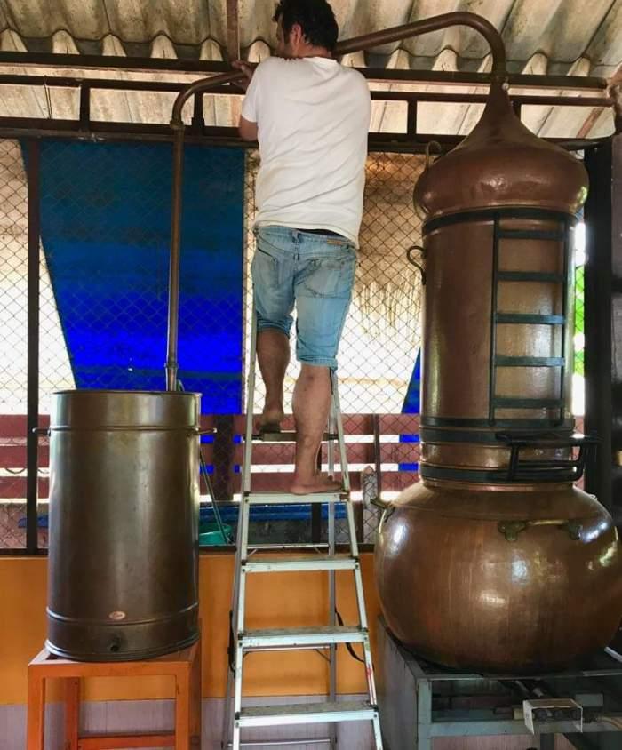 issan rum - david and pot still